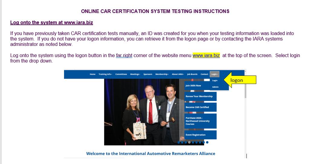 Car Certified Instructions International Automotive Remarketers